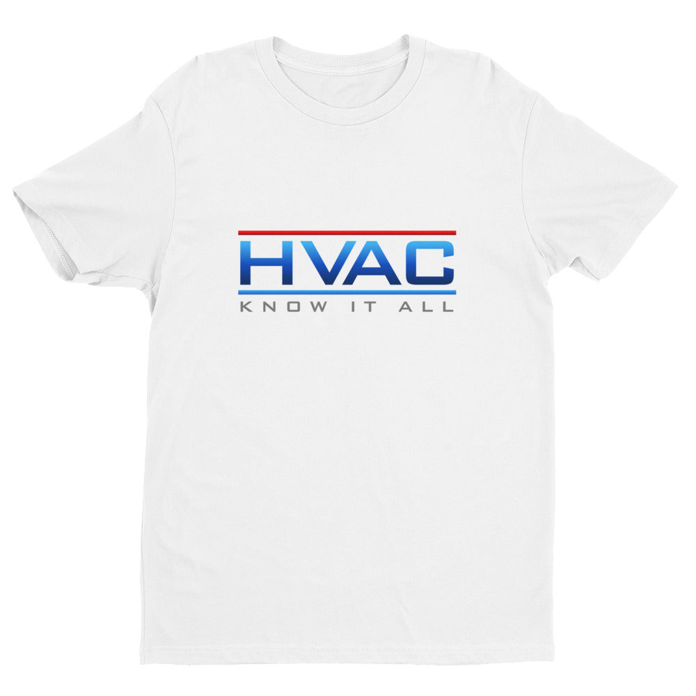 Fitted HVAC Know It All Next Level 3600 Premium Fitted Short Sleeve Crew with Tear Away Label