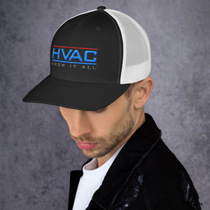 Classic HVAC Know It All Curved Bill Trucker Cap