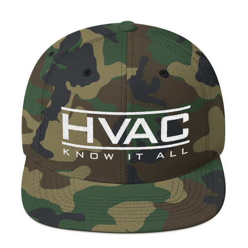 HVAC Know It All Camo Snapback