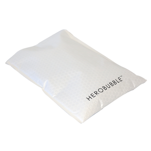 White Compostable HEROBUBBLE Mailer - From Packs of 25