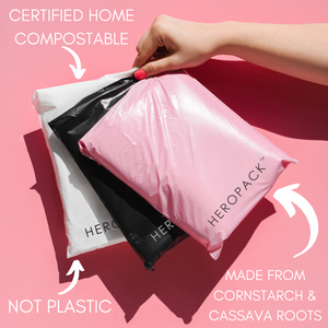 Pink Home Compostable HEROPACK Mailers - from packs of 25