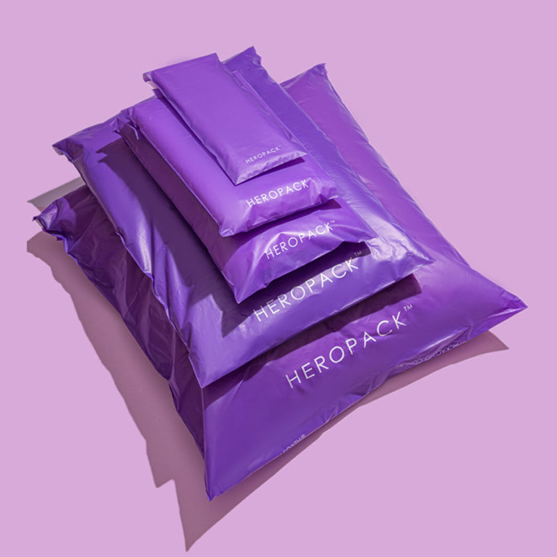 Purple Home Compostable HEROPACK Mailers - from packs of 25