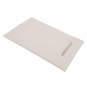 NEW! Home Compostable HEROPACK Shipping Mailer in White/Grey - from packs of 25