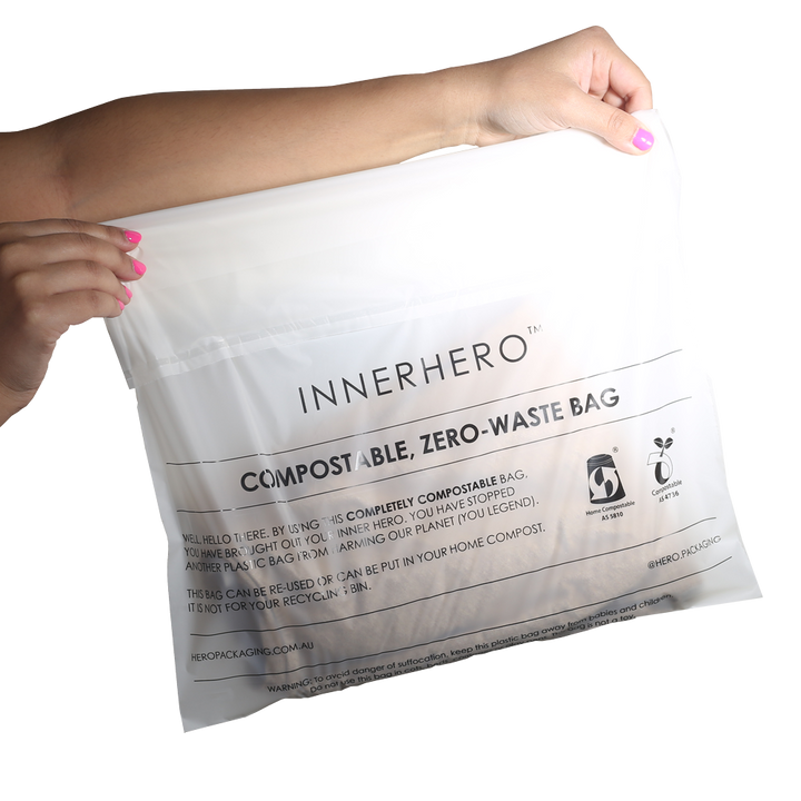 INNERHERO Home Compostable Garment Bags - from packs of 100