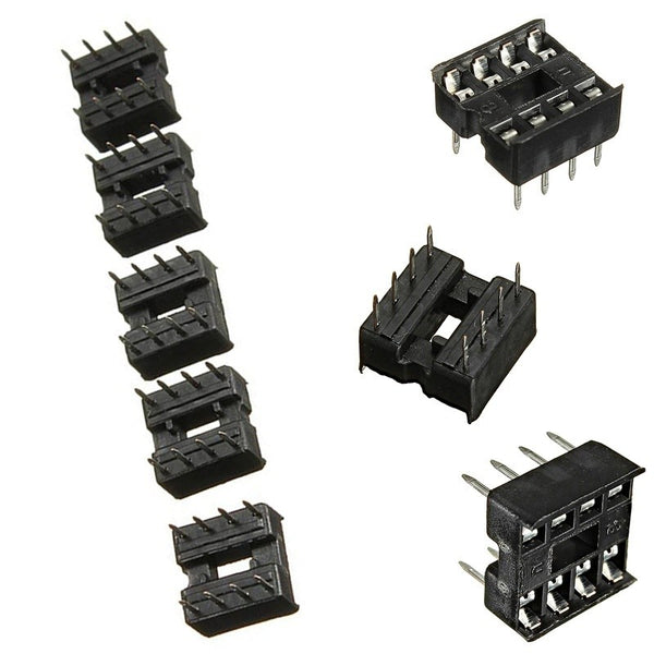 60PCS 8 Pin DIP8 Integrated Circuit IC Sockets Adaptor Solder Type