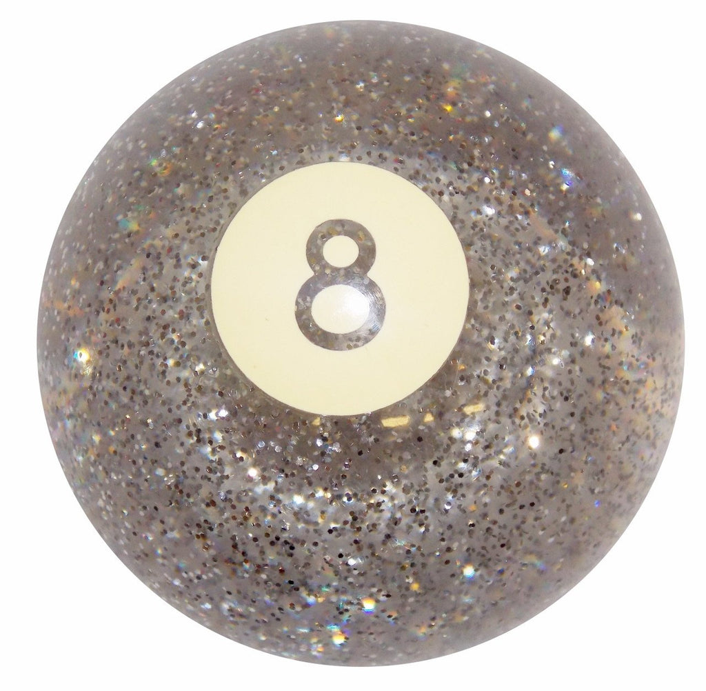 Clear Glitter 8 Ball handle cane