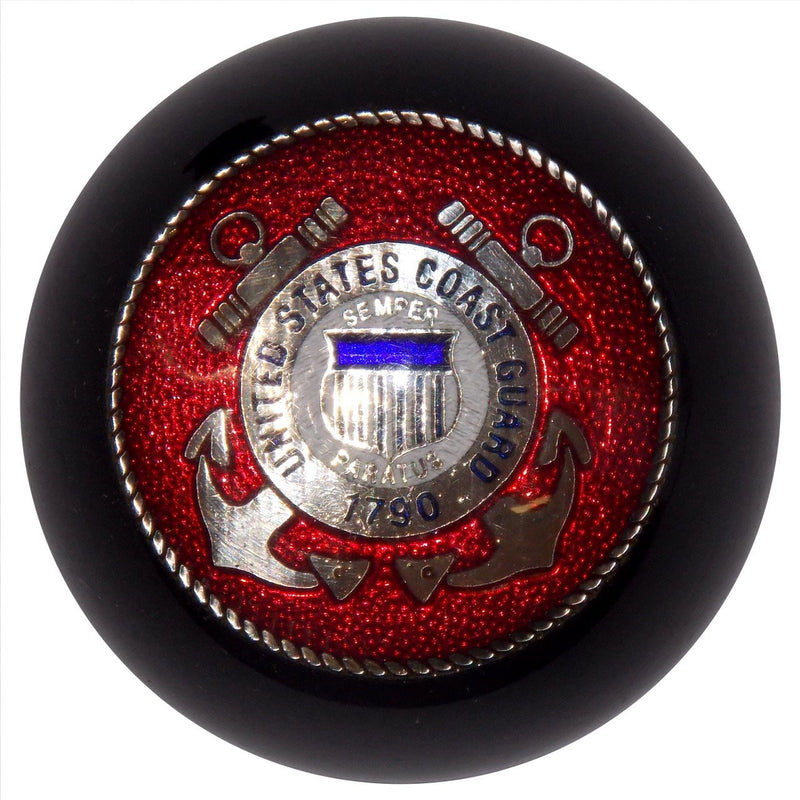 Black U.S. Coast Guard handle cane