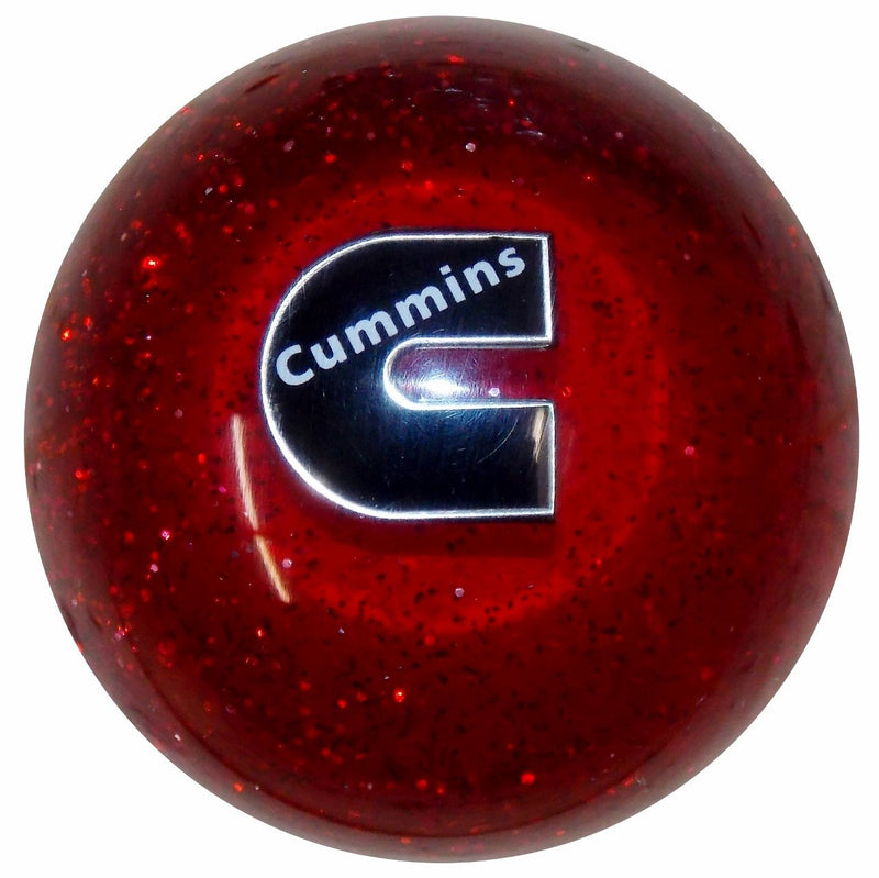 Cummins C Logo Red Glitter handle cane