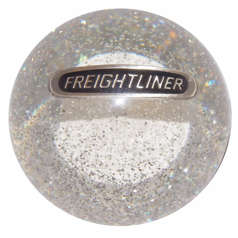 Clear Glitter Freightliner handle cane