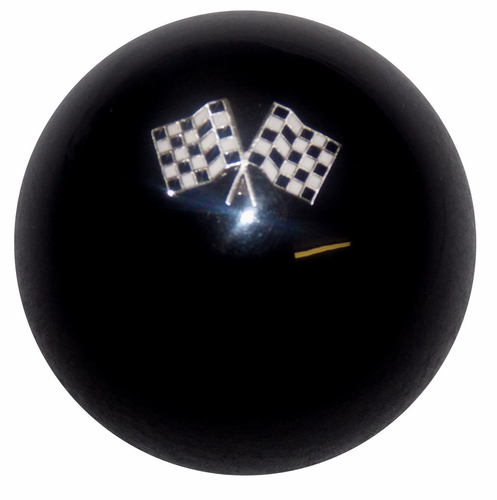 Checkered Flag Black handle cane