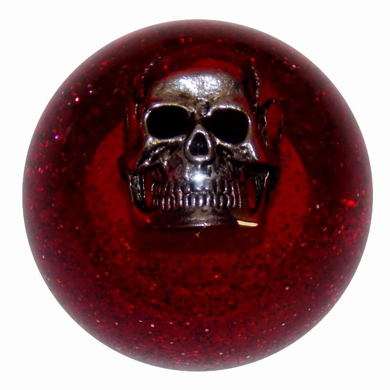 Red Glitter Skull handle cane