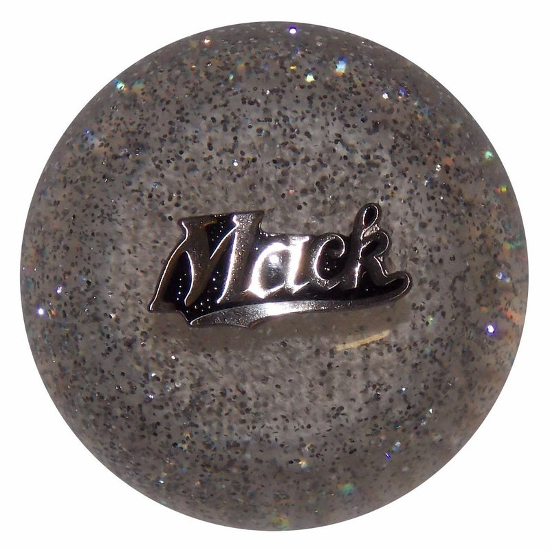 Mack Script Logo Clear Glitter handle cane