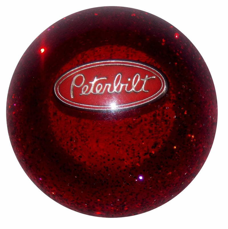 Red Glitter Peterbilt handle cane