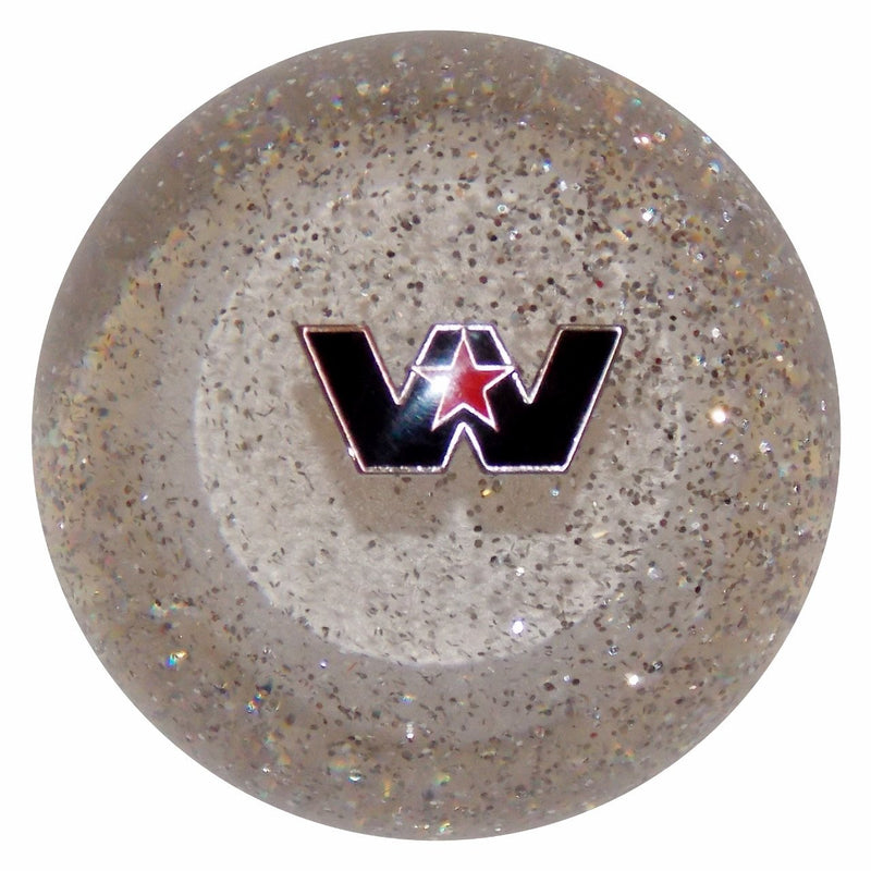 Western Star Logo Clear Glitter handle cane