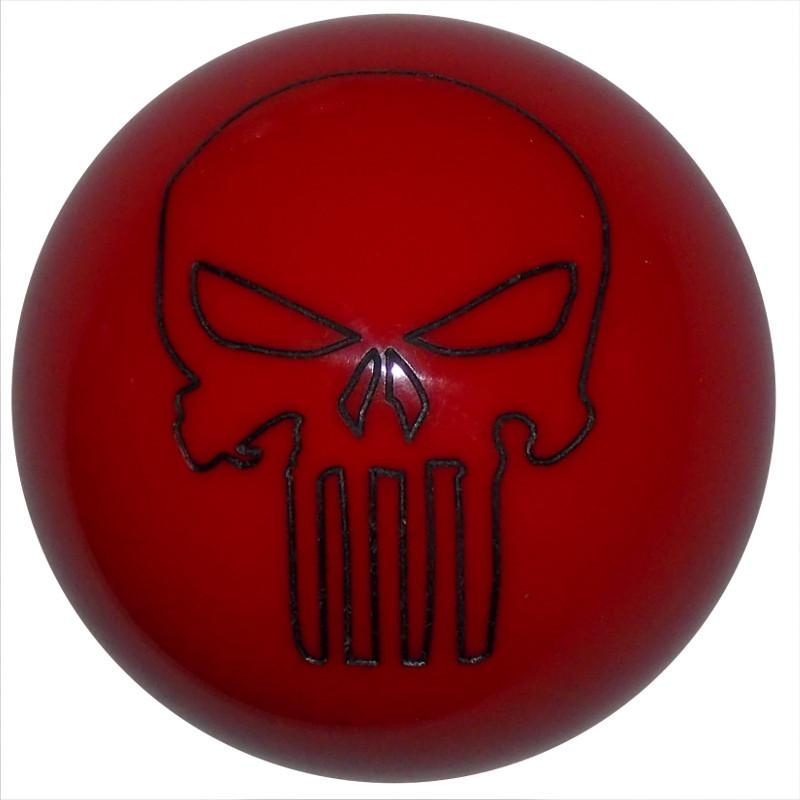 Punisher Skull Red handle cane