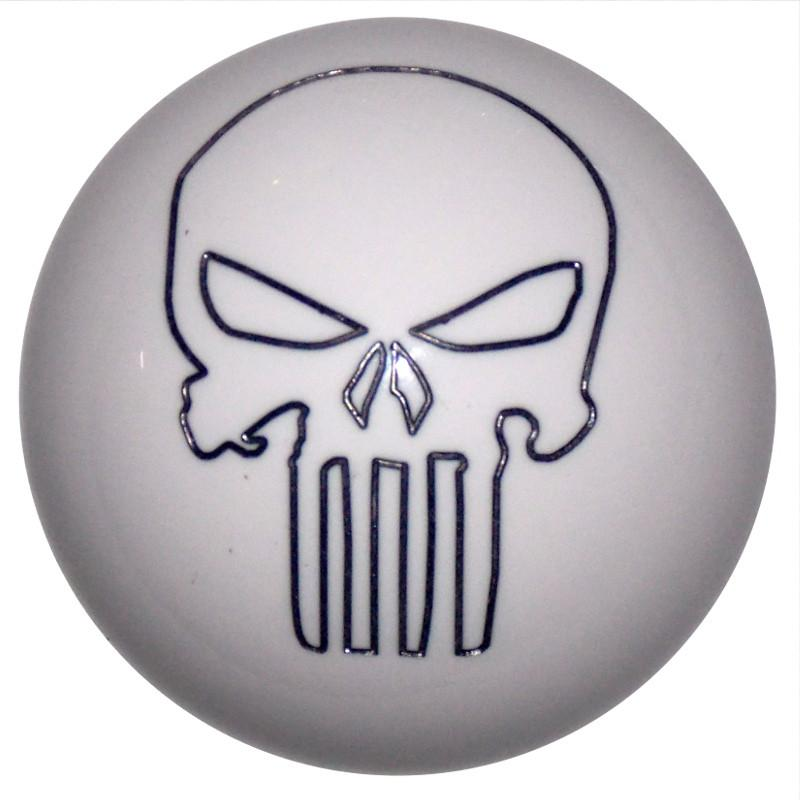 Punisher Skull White handle cane