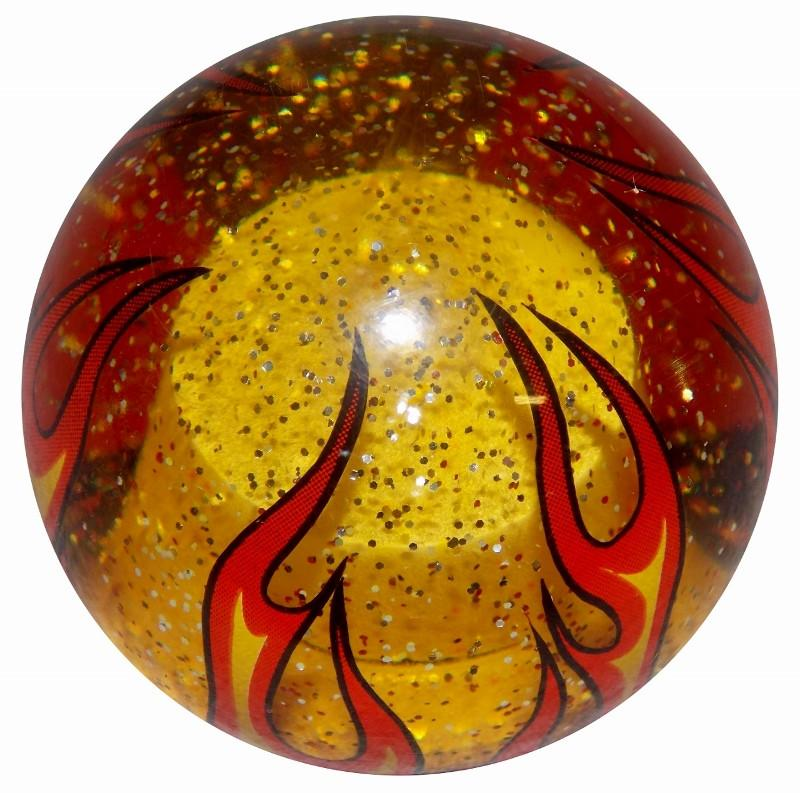 Amber Glitter Flame handle cane