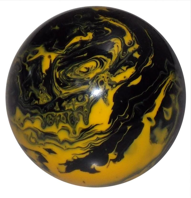 Marbled Black & Yellow handle cane