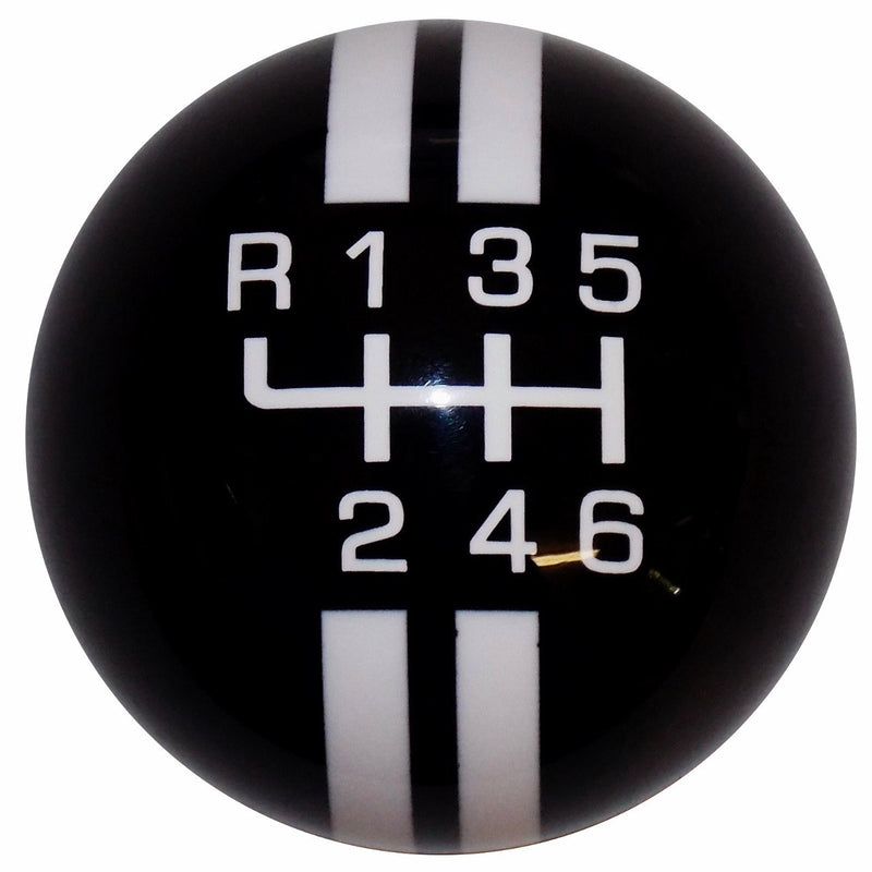 Rally Stripe New 6 Speed Black with White handle cane