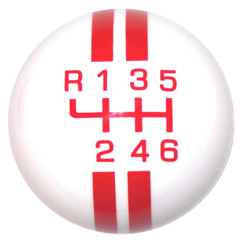 Rally Stripe New 6 Speed White with Red handle cane