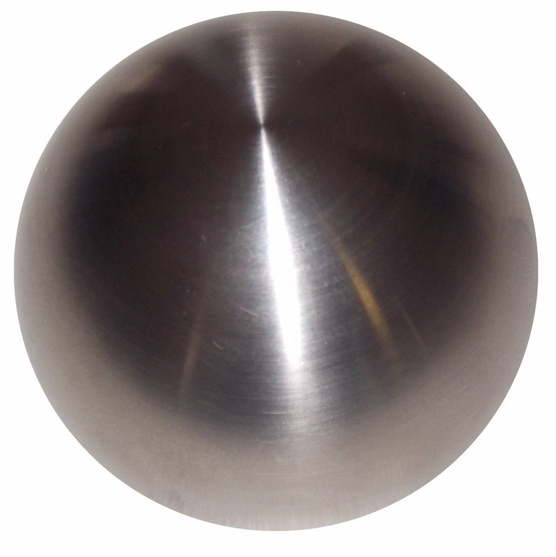 Brushed Stainless Round Heavy Weight handle cane