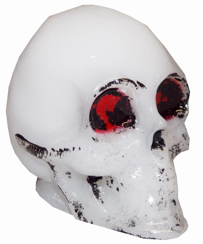 White Skull handle cane