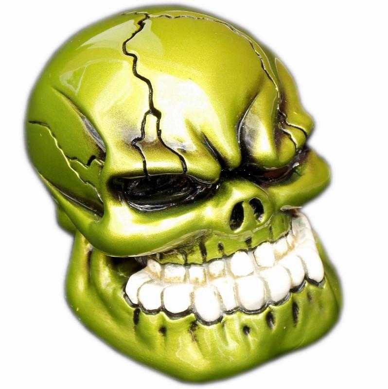 Punchy Skull - Booger Green handle cane