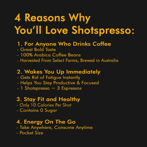 Shotspresso 6-Pack (Sweetened Black) - Shotspresso