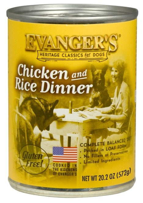 Evangers Classic Chicken and Rice Dinner Canned Dog Food