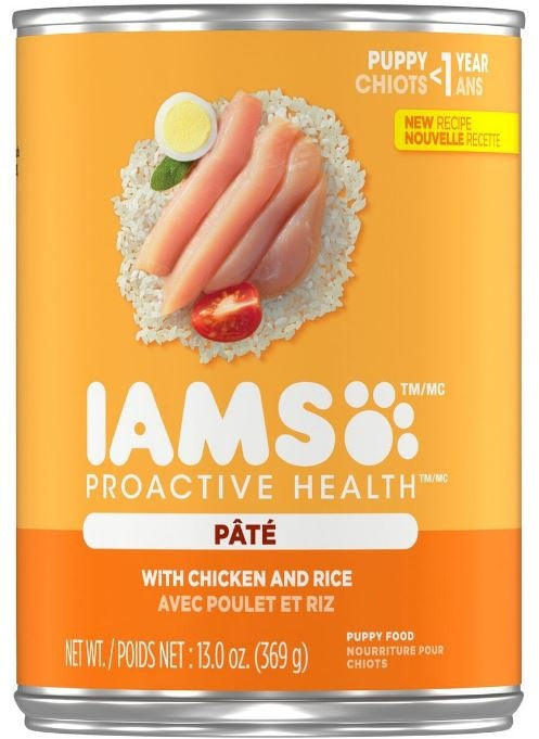 Iams ProActive Health Puppy Chicken and Rice Pate Canned Dog Food