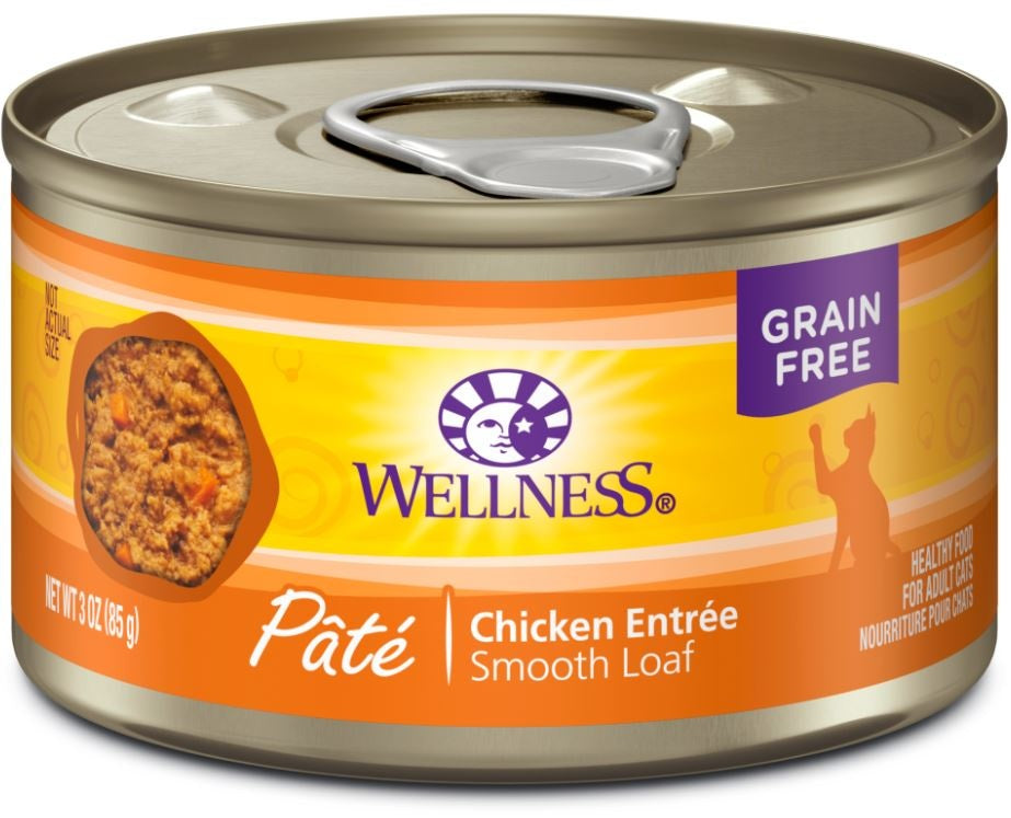 Wellness Complete Health Natural Grain Free Chicken Pate Wet Canned Cat Food