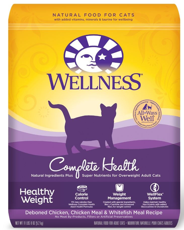 Wellness Complete Health Natural Healthy Weight Chicken and Whitefish Recipe Dry Cat Food