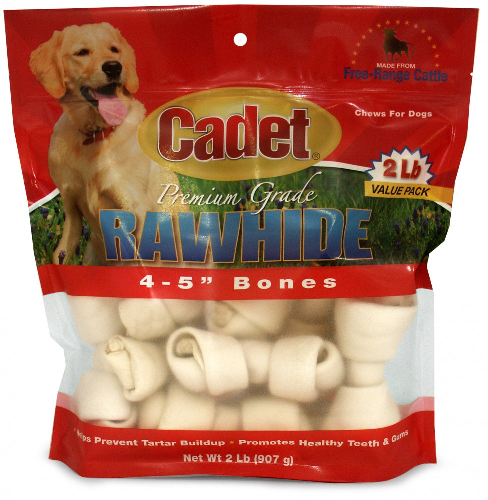 Cadet Rawhide Plain Braided Dog Bones
