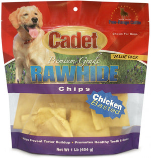 Cadet Rawhide Chicken Flavor Chips for Dogs