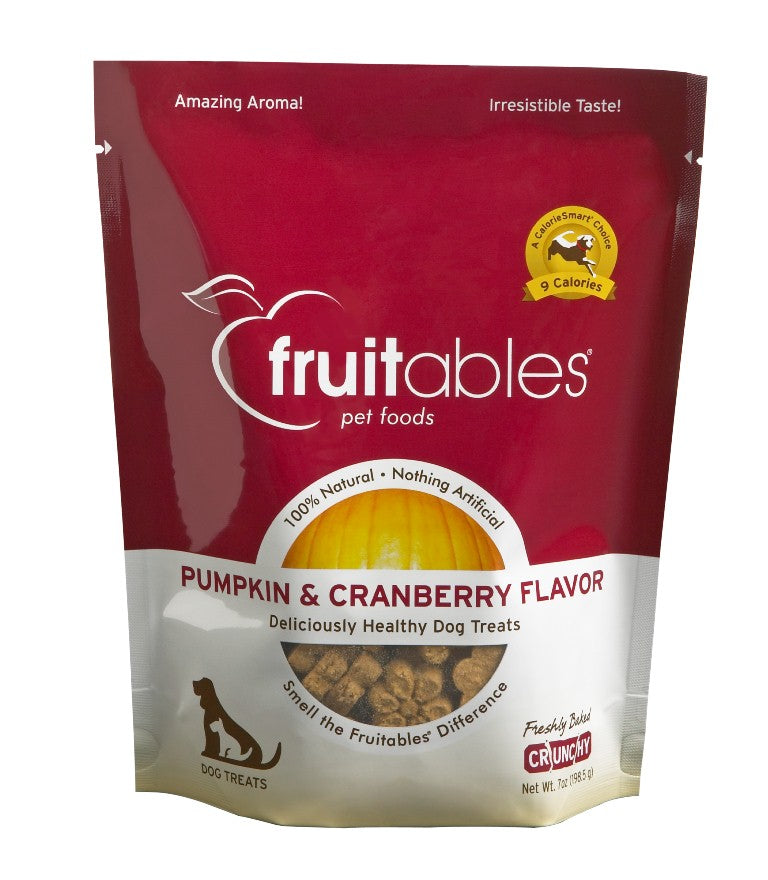 Fruitables Crunchy Pumpkin and Cranberry Dog Treats