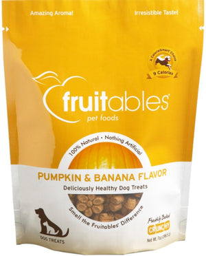 Fruitables Crunchy Pumpkin and Banana Dog Treats
