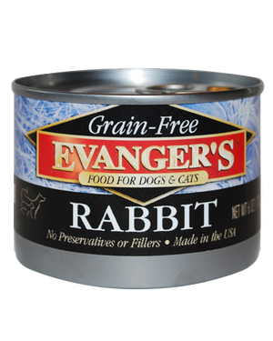 Evangers Grain Free Rabbit  Canned Dog and Cat Food