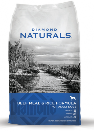 Diamond Naturals Beef Meal and Rice Formula Adult Dry Dog Food