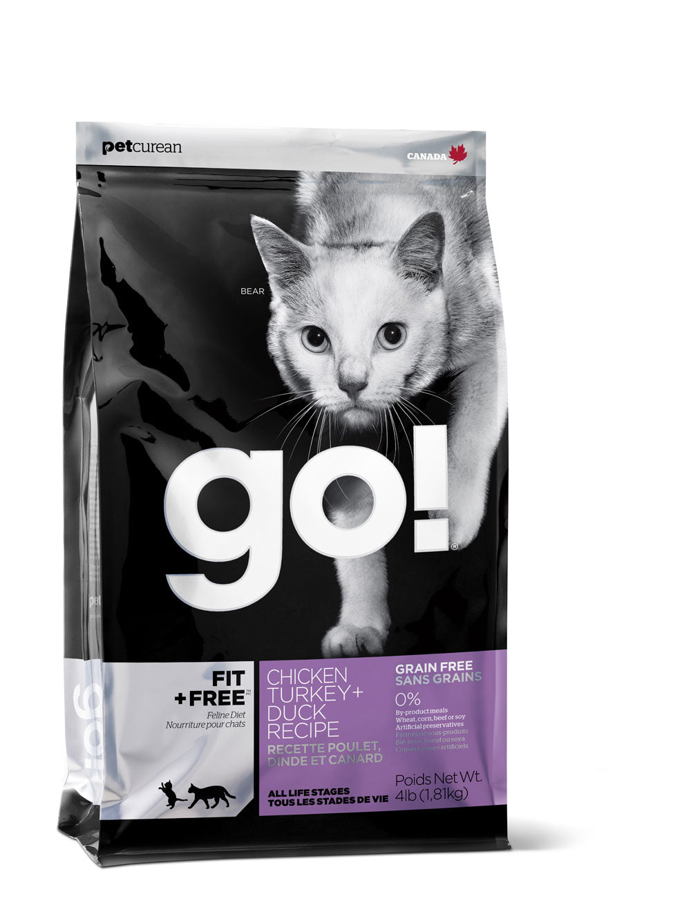 Petcurean Go! Fit and Free Grain Free Chicken, Turkey and Duck Dry Cat Food