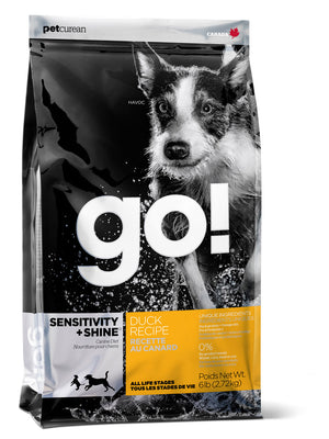 Petcurean Go! Sensitivity and Shine Duck Recipe Dry Dog Food