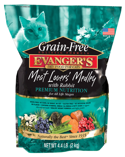 Evangers Grain Free Meat Lover's Medley with Rabbit Dry Cat Food