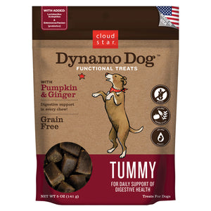 Cloud Star Dynamo Dog Functional Soft Chews Tummy Pumpkin and Ginger Dog Treats