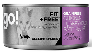 Petcurean Go! Fit and Free Grain Free Chicken, Turkey and Duck Pate Recipe Canned Cat Food