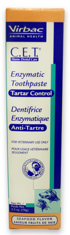 Virbac C.E.T. Tartar Control Toothpaste Seafood Flavor for Dogs and Cats