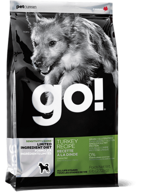 Petcurean Go! Limited Ingredient Diet Sensitivity and Shine Turkey Recipe Dry Dog Food