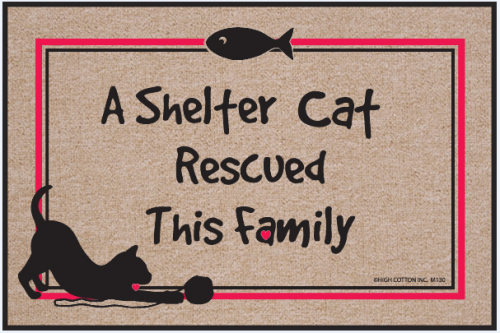 High Cotton A Shelter Cat Rescued This Family Doormat