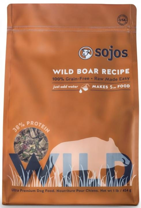 Sojos WILD Free Range Wild Boar Dog Food