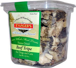 Evanger's Raw Freeze Dried Grain Free Beef Tripe Dog and Cat Treats