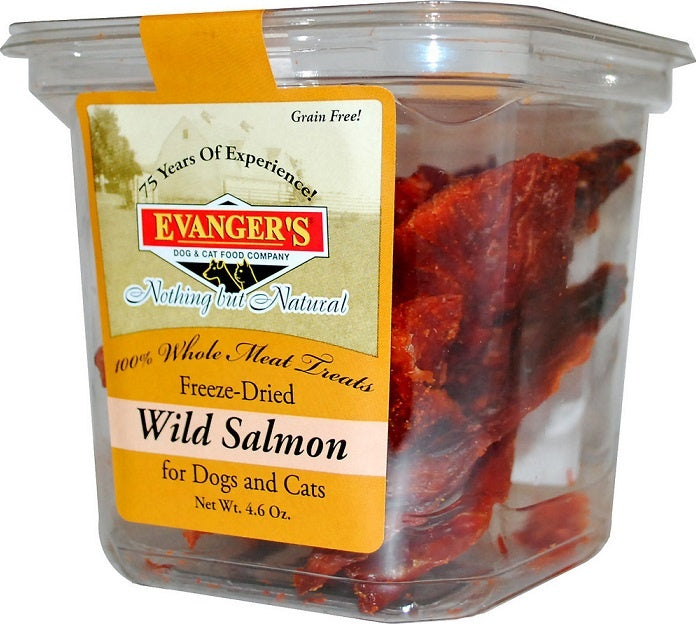 Evanger's Raw Freeze Dried Grain Free Wild Salmon Dog and Cat Treats