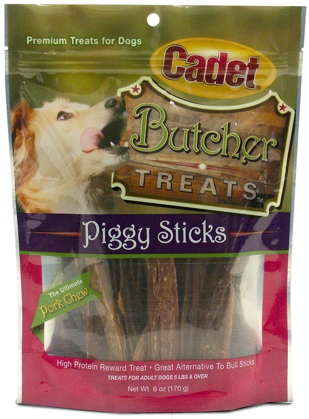Cadet Butcher Treats Piggy Sticks Dog Treats